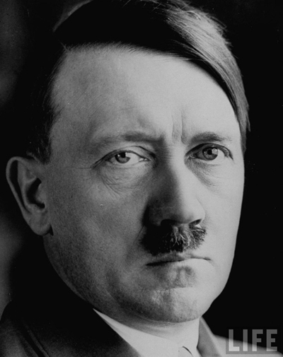 Adolf Hitler - military and political leader of Germany 1933 - 1945, launched World War Two and bears responsibility for the deaths of millions.