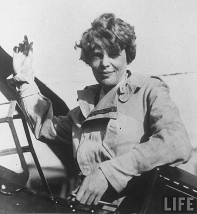 Amelia Earhart - The first woman to fly as a passenger across the Atlantic Ocean.