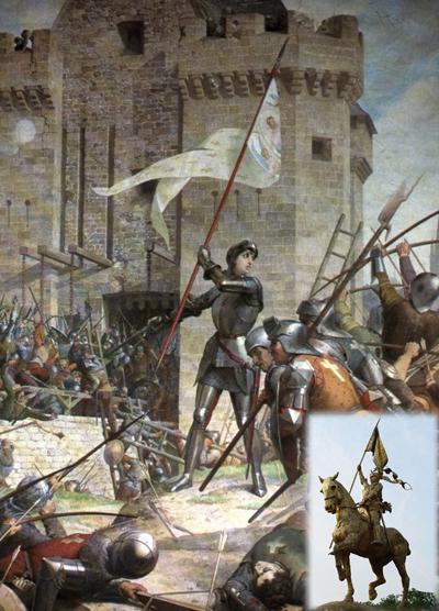 Joan of Arc - in French, Jeanne d'Arc, also called the Maid of Orleans, a patron saint of France and a national heroine.