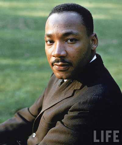 Martin Luther King - American clergymen, Nobel Peace Prize winner and one of the principal leaders of the American civil rights movements.