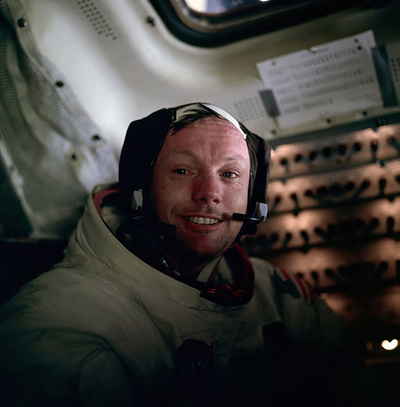 Neil Armstrong - a United States astronaut, was the first person to set foot on the moon.