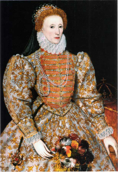 Queen Elizabeth I - whose name has become a synonym for the era