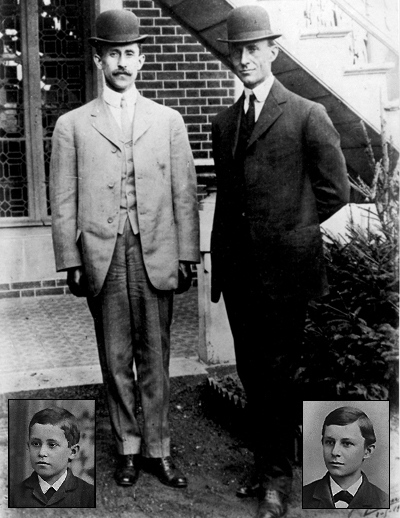 Wright Brothers - Orville (left) and Wilbur : The first men who gave the flight.