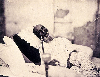 Bahadur Shah Zafar, the only photo ever taken of a Mughal emperor.
