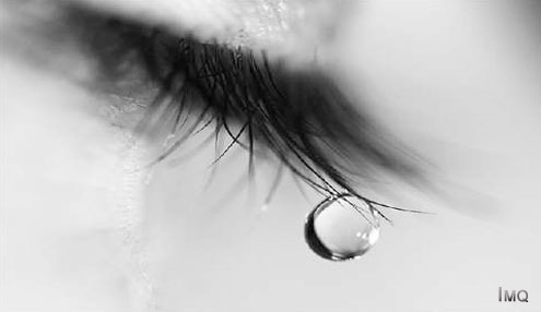 Tears are the liquid product of a process of crying to clean and lubricate the eyes.
