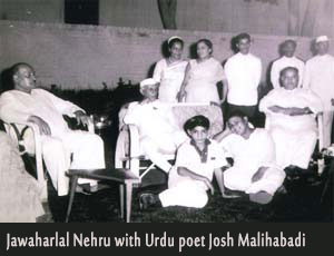 Josh Malihabadi With Jawaharlal Nehru